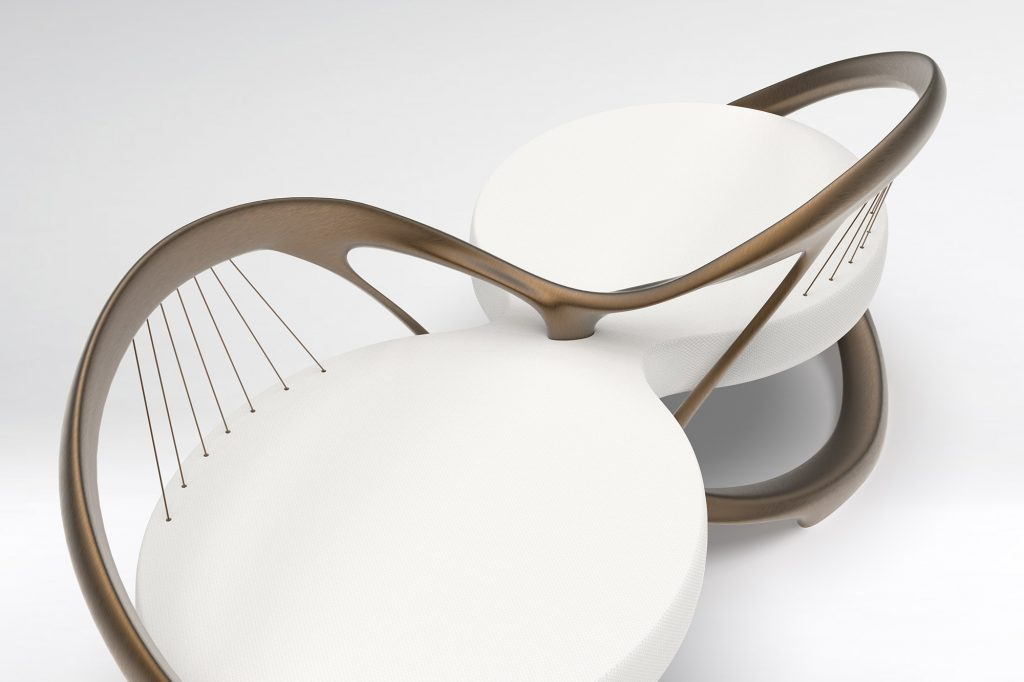 Symbiose two seater chair, design by Julien Bonzom
