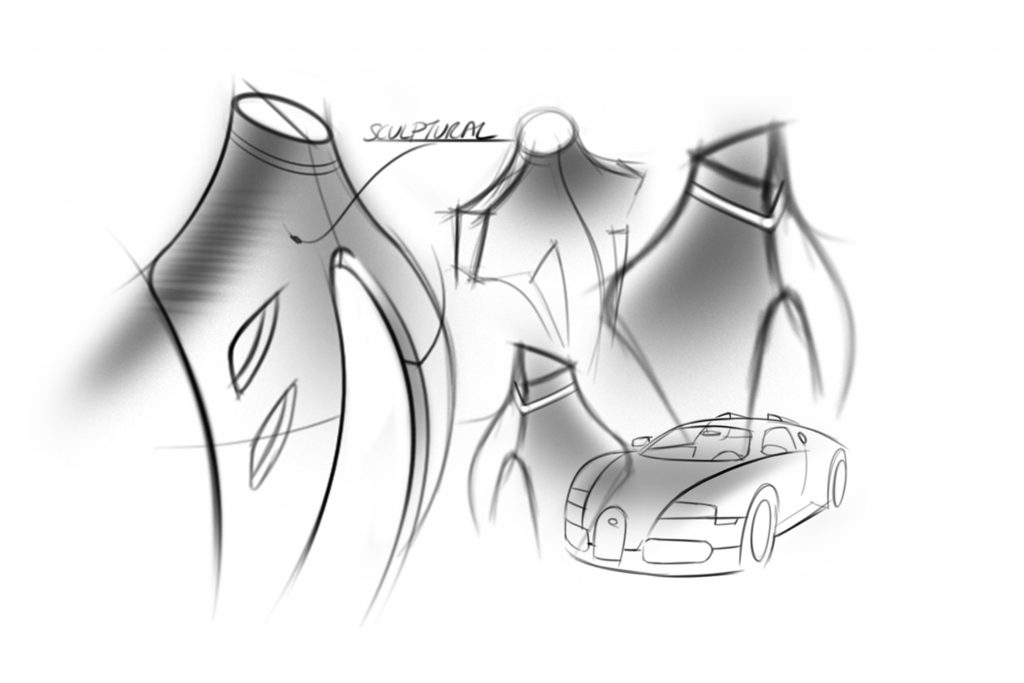 Allure valet stand, inspiration product design sketches